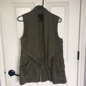 Army Green Anthropologie Vest